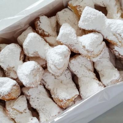 Lazos de Hojaldre y azúcar